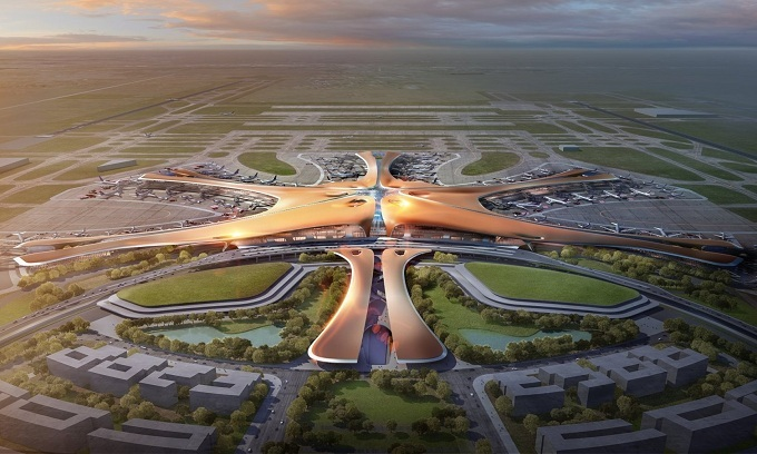 Nhà ga sân bay lớn nhất thế giới ở Bắc Kinh