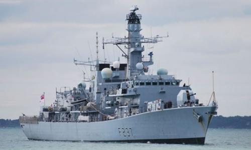 Tàu hộ tống HMS Westminster của hải quân Anh. Ảnh: Alamy.
