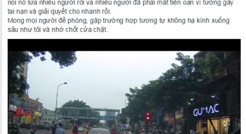 video-chan-xe-an-va-oto-giua-duong-ha-noi-day-song-cong-dong