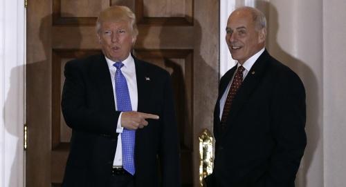 Ông Trump gặp ông Kelly hồi tháng 11/2016. Ảnh: Reuters.
