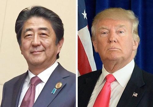 Thủ tướng Nhật Shinzo Abe và Tổng thống Mỹ Donald Trump. Ảnh: