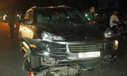 Ôtô đâm 4 xe máy khiến nhiều người bị thương ở Hải Phòng