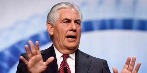 Ngoại trưởng Mỹ Rex Tillerson. Ảnh: AP.