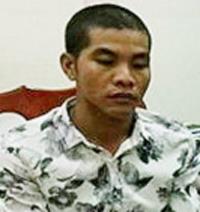Cường bị bắt giữ sau hai ngày gây ra án mạng. Ảnh: Trần Thanh.