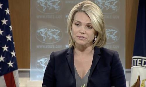 Heather Nauert, người phát ngôn Bộ Ngoại giao Mỹ. Ảnh: Washington Examiner.