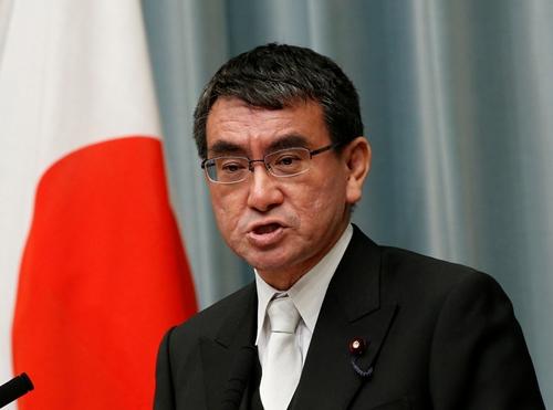 Ngoại trưởng Nhật Bản Taro Kono . Ảnh: REiters.