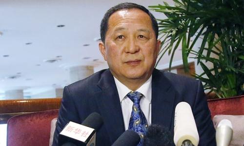 Ngoại trưởng Triều Tiên Ri Yong-ho. Ảnh: AP.