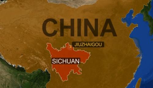 Vị trí Cửu Trại Câu ở tỉnh Tứ Xuyên, tây nam Trung Quốc. Ảnh: Reuters.