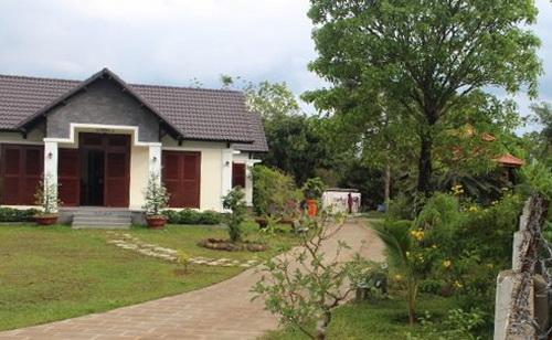 Khu biệt thự nhà vườn xây dựng trái phép của gia đình Phó Trưởng ban Tổ chức Tỉnh ủy Đồng Nai. Ảnh: Thái Hà