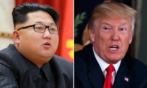 Nhà lãnh đạo Triều Tiên Kim Jong-un (trái) và Tổng thống Mỹ Donald Trump. Ảnh: KCNA/The Australian.
