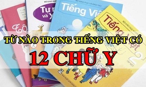 Từ nào trong tiếng Việt có đến 12 chữ Y?