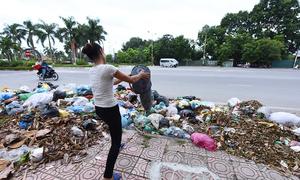 Rác thải chất đống trên khắp thị xã Sơn Tây, Hà Nội