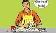 Vợ đứng hình trước nguyên nhân chồng làm việc nhà