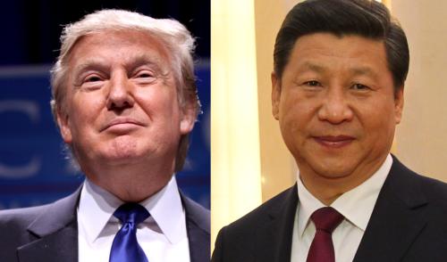 Tổng thống Mỹ và Chủ tịch Trung Quốc. Ảnh: Wikipedia.