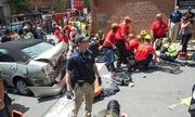 Nữ phóng viên bị tấn công khi ghi hình hiện trường lao xe ở Mỹ