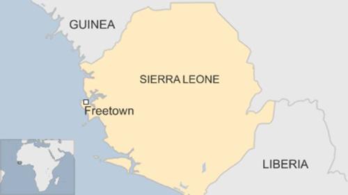 Vị trí thành phố Freetown, Sierra Leone. Đồ họa: BBC.