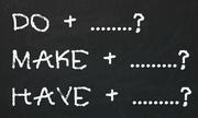 Những cụm từ tiếng Anh đi với 'do', 'make', 'have'
