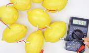 Những thí nghiệm tạo ra dòng điện đơn giản từ củ quả