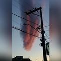 Đám mây màu đỏ máu như tận thế sà xuống thành phố Brazil