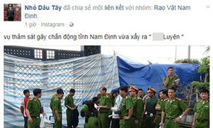 Tung tin đồn thảm sát 8 người ở Nam Định để câu 'like' kiếm tiền