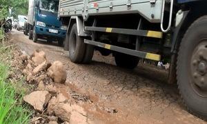 Đường làng ở Đồng Nai hỏng nặng vì ôtô ùn ùn né trạm BOT