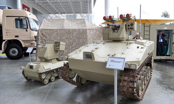 Dàn vũ khí bộ binh ở triển lãm quân sự lớn nhất Nga