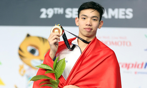 Huy Hoàng giành HC vàng 1.500m