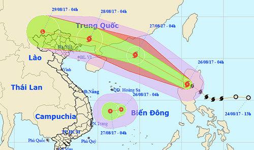 Áp thấp nhiệt đới mới trên biển Đông, hướng Bình Định – Khánh Hoà