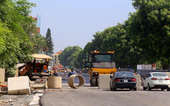 Công trường vành đai 1.500 tỷ đồng một km ở Hà Nội