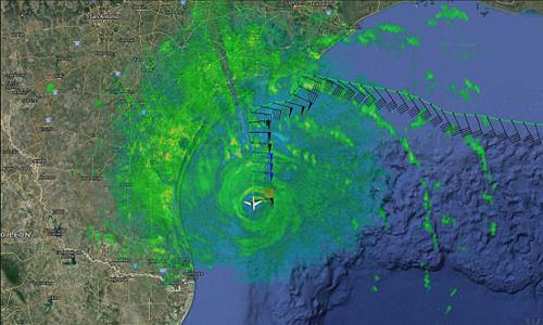 Hình ảnh radar về chuyến bay săn bão. Ảnh: NOAA.
