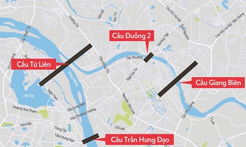 Bốn cây cầu gần hai tỷ USD Hà Nội muốn làm ngay