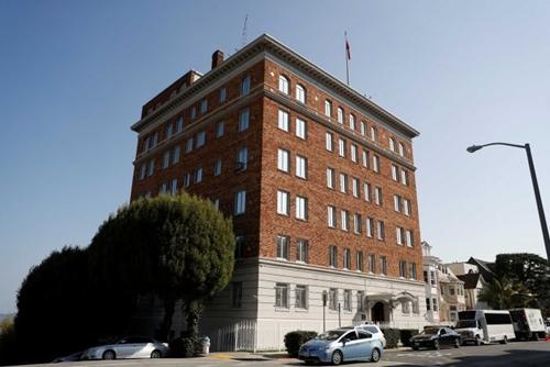 Tòa nhà tổng lãnh sự quán Nga tại San Francisco, Mỹ. Ảnh: ABC.