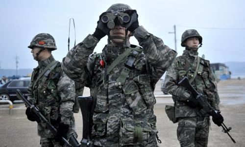 Binh sĩ quân đội Hàn Quốc. Ảnh: AFP.