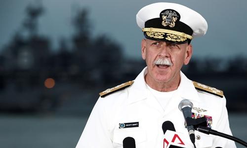 Đô đốc Scott Swift, chỉ huy Hạm đội Thái Bình Dương, hải quân Mỹ. Ảnh: Reuters.