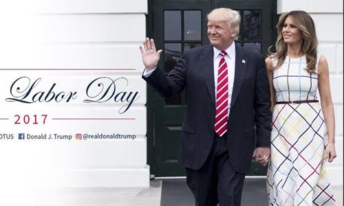 Hình ảnh trong dòng tweet gây tranh cãi của ông Trump. Ảnh chụp màn hình: Twitter.
