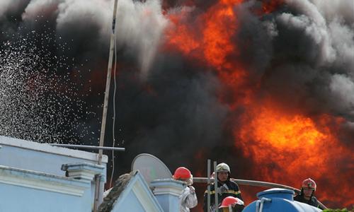 Thượng úy cảnh sát hy sinh khi chữa cháy ở TP HCM