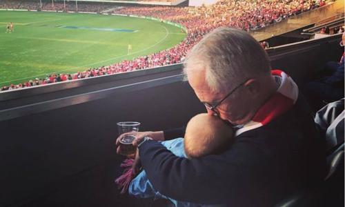 Hình ảnh gây bão trên mạng xã hội của Thủ tướng Australia Malcolm Turnbull. Ảnh: Malcolm Turnbull.