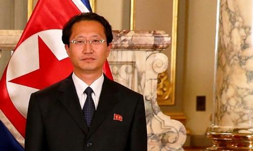 Đại sứ Triều Tiên tại Peru Kim Hak-chol. Ảnh: Peru 21.