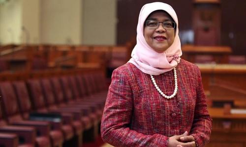 Bà Halimah Yacob. Ảnh: Straits Times.