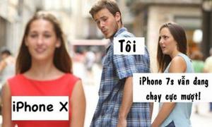 Ảnh chế hài hước về cặp đôi iPhone X và iPhone 8