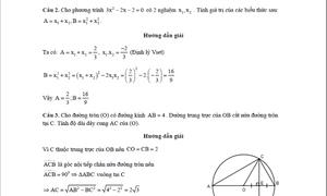 Hướng dẫn giải đề minh họa môn Toán lớp 10 ở TP HCM