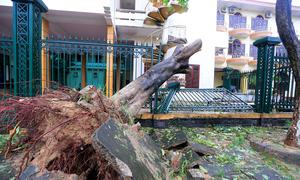 Sáu tiếng tàn phá 3 tỉnh miền Trung của bão Doksuri