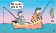 Lý do bất ngờ khiến bà vợ cấm chồng câu cá to