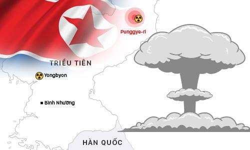 Lần thử hạt nhân thứ sáu uy lực nhất của Triều Tiên (bấm vào hình để xem chi tiết). Đồ họa: Việt Chung.