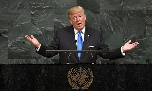 Những khuôn mặt lạnh tanh khi Trump phát biểu tại LHQ