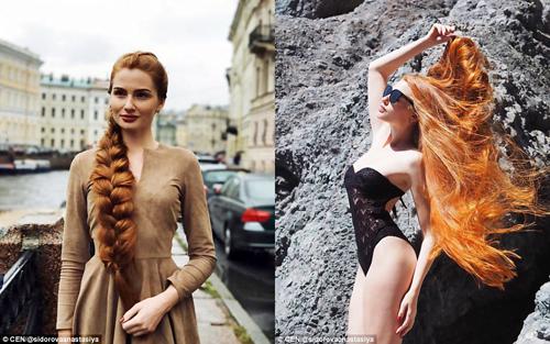 Anastasia giờ đây sở hữu mái tóc dài rực rỡ trong nắng. Ảnh: CEN.
