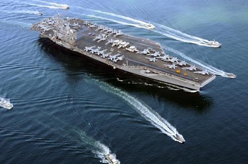Tàu sân bay USS Ronald Reagan của Mỹ. Ảnh: USNavy.