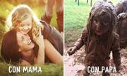 Sự khác nhau giữa mẹ và bố khi chăm con nhỏ
