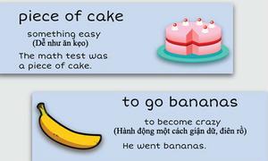 10 thành ngữ thú vị liên quan đến đồ ăn