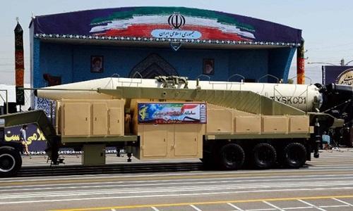 Tên lửa đạn đạo Khorramshahr của Iran. Ảnh: